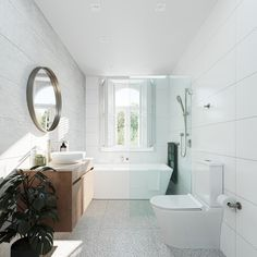 Upstairs Bathrooms, Laundry In Bathroom, Downstairs Bathroom, Small Bathroom, White Bathroom, Bathroom Trends, Bathroom Renovations, Bathroom Ideas, Deco
