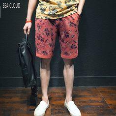 Sea Cloud Free shipping plus size european loose casual hiphop elastic strap knee-length shorts cotton short trousers 8xl