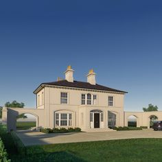 Modern Georgian, Georgian Style Homes, Georgian House, House Designs Ireland, Modern Farmhouse Interiors, Farmhouse Front, Architect House, House Building, Facade House