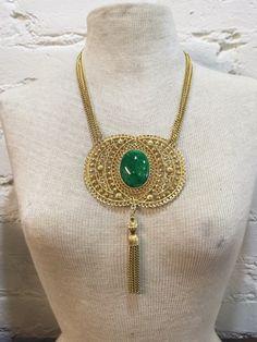 Huge Statement Necklace Stunning Large Medallion by BranchOutShop