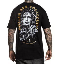 Sweatshirt in schwarz  Gothik-,Biker-/&Tattoomotiv Modell Candy Skull Pink