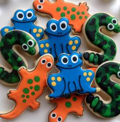 Reptile Sugar Cookie Collection Customizable by NotBettyCookies