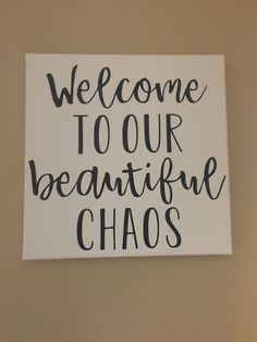 Beautiful chaos wall decor wall signs entryway sign canvas sign vinyl lettering wall hangings wall decor welcome Hall delivers online tools that help you to stay in control of your personal information and protect your online privacy. Entryway Wall Decor, Farmhouse Wall Decor, Room Wall Decor, Bedroom Decor, Bedroom Wall, Letter Wall Decor, Canvas Wall Decor, Decorative Letters For Wall, Entryway Quotes