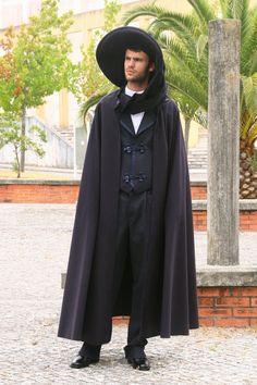 Academic costume from Algarve Algarve, Portugal, Cloak, The Hamptons, Cape, Costumes, Traditional, Celebrities, Concept Art