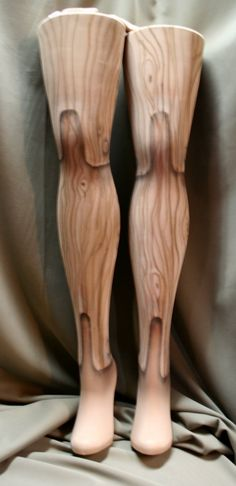 wooden marionette tights by beadborg on Etsy