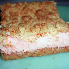 CHERRIES JUBILEE CHEESECAKE BARS - not sure about this one, sounds pretty sweet...but maybe worth a try!  Tough work...somebody's gotta do it!