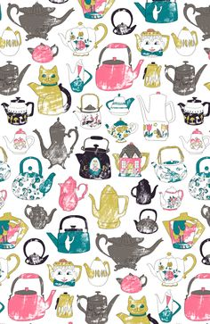 The teapots say, chippa chuppa choo! Pattern Archive - harrydrawspictures