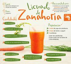 Aprende a preparar este delicioso licuado de #zanahoria con yogurt y avellanas y disfruta de sus innumerables cualidades y beneficios. #nutricion #verduras #frutas #alimentos #salud #beneficios #tips #saludable