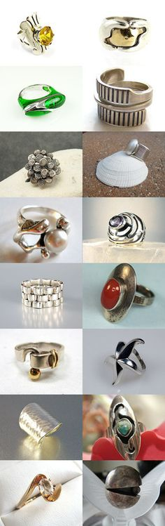 Modernist Rings - A Vintage Vogue Team Treasury by Cherie on Etsy--Pinned with TreasuryPin.com