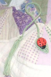The Left Side of Crochet: Bug on a Leaf Bookmark