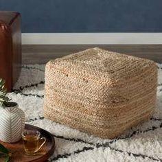 Found it at Wayfair - Ochoa Modern Pouf Ottoman Leather Pouf, Leather Ottoman, Pouf Ottoman, Plywood Furniture, Rattan, Moroccan Decor Living Room, Birthday Souvenir, Knitted Pouf, Outdoor Pouf