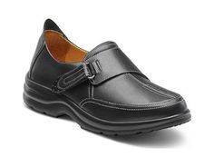 Dr Comfort Kristin Womens Therapeutic Diabetic Extra Depth Shoe Leather Velcro  MidnightBlack 80 Medium AB MidnightBlack Velcro US Woman *** Find out more about the great product at the image link.