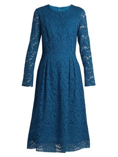 Click here to buy Adam Lippes Long-sleeved guipure-lace cotton-blend dress 6d3eebadadc