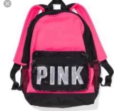 NEW PINK LOGO BLING CAMPUS BACKPACK LIMITED EDITION BRAND NEW NO TAGS AUTHENTIC WE BOUGHT IT TOOK TAGS OFF BUT NEVER USED IT PLEASE LOOK AT PICTURES ➡️➡️once mailed I am not responsible for lost or stolen mail Price is Firm Thank you Victoria Secrets, Victoria Secret Rosa, Laptop Backpack, Black Backpack, Rucksack Bag, Laptop Bags, Travel Backpack, Victoria Secret Rucksack, Pink Luggage