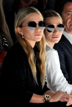 It's always double the chic with the Olsen Twins. #SistersInShades Ray-Ban Sunglasses .http://www.raybanwestus.com/