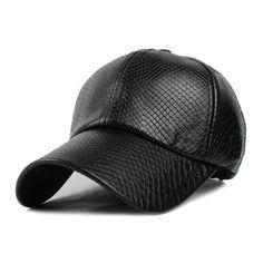 13add54a7d2  FLB  Cool!new fashion PU black Baseball Cap women Hats For men fall  Leather cap Trucker cap Sports snapback winter for women