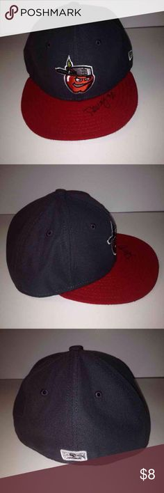 fort autographed hat fitted minor league baseball size vintage hats