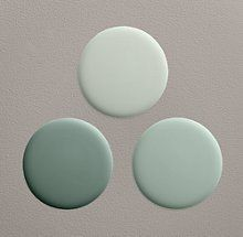 Silver sage color palette by Restoration Hardware. The lightest color, Silver Sage, is an awesome neutral. Don't use the RH paint, though. Use Sherwin Williams or Benjamin Moore and have it color matched.