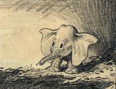 Dumbo, Disney concept art by Bill Peet.
