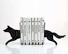 These Wolf Bookends are a Fun Addition to Any Bookshelf trendhunter.com