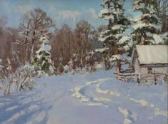 Solar winter Winter Painting, Various Artists, Is 11, Artist Painting, Winter Time, Beautiful Landscapes, Painting Inspiration, Landscape Paintings, Oil On Canvas