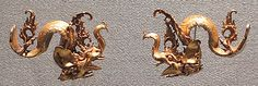 Pair of Ear Ornaments Period: Eastern Javanese period Date: early 9th–14th century Culture: Indonesia (Java) Medium: Gold
