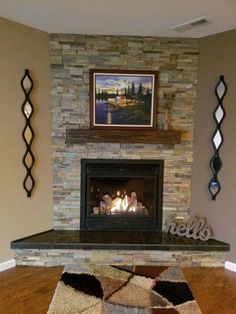 Fireplace Mantle 60 Long X 5 Tall 9 Deep Rustic Rugged Wood Mantel Floating Shelf Wooden