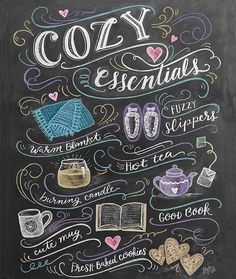 """""""Cozy Saturdays are my favorite. ☕️ (this is one of my newest prints on…"""