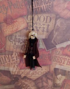 Mad-Eye Moody Clothespin Doll Ornament by LittleParade on Etsy