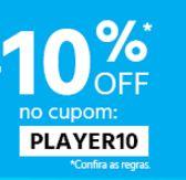 Cupom de 10% de Desconto em Jogos e Acessórios no Submarino