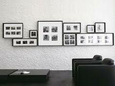 lineare parete di quadri