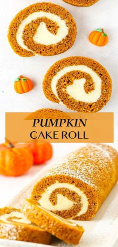 This easy Pumpkin Cake Roll is made with tender pumpkin cake and a heavenly cream cheese filling. Plus my mess-free method for making this roll is super simple! Best Pumpkin Bread Recipe, Pumpkin Roll Cake, Pumpkin Cupcakes, Pumpkin Cheesecake, Jelly Roll Pan, Caking It Up, Best Cake Recipes, Cream Cheese Filling, Baking Flour
