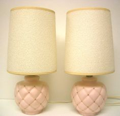Vintage Pink Glass Bedside Lamps by REdesignkc on Etsy, $40.00