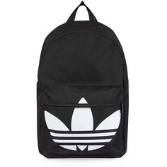 Trefoil Backpack by Adidas Originals found on Polyvore featuring bags, backpacks, logo bags, logo backpacks, backpack bags, rucksack bags and day pack backpack