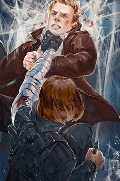 Captain America vs. the Winter soldier