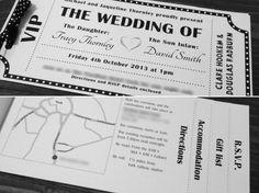 Vintage Movie Ticket Wedding Invite Vintage Hollywood Wedding, Gatsby Movie, Dream Wedding, Wedding Day, Wedding Movies, Movie Themes, Movie Tickets, Art Deco Wedding, Vintage Movies