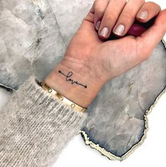 33 Cool Small Wrist Tattoos For Guys – Wrist Designs Wrist Tattoos For Women, Small Wrist Tattoos, Tattoos For Women Small, Love Wrist Tattoo, Small Love Tattoos, Tattoo Small, Be Free Tattoo, Arm Tattoo, Ankle Foot Tattoo