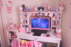 Find images and videos about pink, kawaii and room on We Heart It - the app to get lost in what you love. Room Ideas Bedroom, Girls Bedroom, Bedroom Decor, Bedrooms, Room Girls, Cute Room Ideas, Cute Room Decor, Pastel Room, Pink Room