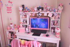 Kawaii Pink Desk.