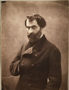 Eugene Pelletan  by Nadar (French, 1820-1910)  salted paper print from glass negative, photograph