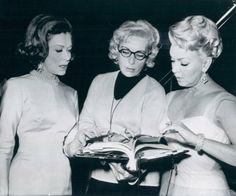 lana turner, and Constance Bennett on the set of Mme. X