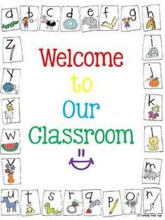 "FREE ""Welcome"" poster for your classroom!!"