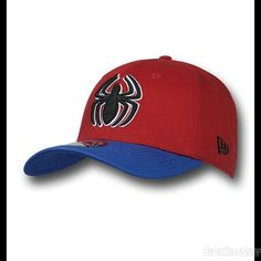 Images of Spiderman 39Thirty Red & Blue Baseball Cap