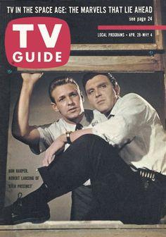"""TV Guide, April 28, 1962 - Ron Harper and Robert Lansing of """"37th Precinct"""""""