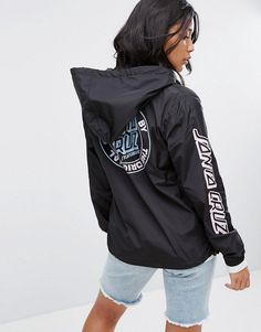 Santa Cruz Zip Hooded Jacket With Dot Logo Back Print at ASOS. Lazy Outfits, Fashion Outfits, Coats For Women, Jackets For Women, Good Brands, Lightweight Jacket, Zip Hoodie, Pullover, Santa Cruz