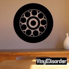 Tire Rim Wall Decal - Vinyl Decal - Car Decal - DC019