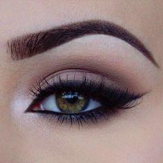 Soft smoky eye with bold eye liner #2016makeuptrends #makeup #weddingmakeup…