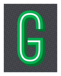 The Letter G on #Etsy.