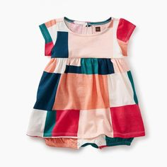 Patchwork Romper Dress | Inspired by the famed quilts crafted in Gee's Bend, Alabama, this sweet little dress pays homage to traditional patchwork design.