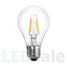 Retro 6W Sisustus E27 LED Lamppu Rehu: Lasi Kulutus: 6 Wattia Lumen: 750LM Koko: 60x105mm Asennus: E27 Väri: Lämmin valkoinen Värilämpötila: 2700K RA: >80 LED Tyyppi: Epistar
